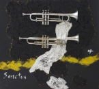 Peinture No 169 - Requiem Gabriel Fauré - III- Sanctus - Technique mixte sur panneau bois - 100x100 - 2019.jpg